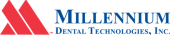 Blue And Red Millennium Technologies Logo